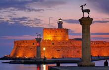 Rhodes sunset Autumn